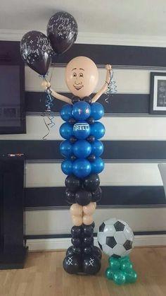 #sculptured balloon people #theme football #balloons #bellissimoballoons