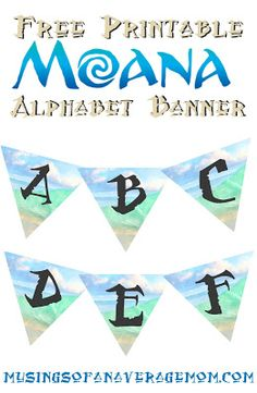 Free printable Moana alphabet banner