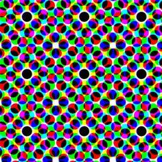 CMYK halftone dots - grey fabric by weavingmajor on Spoonflower - custom fabric