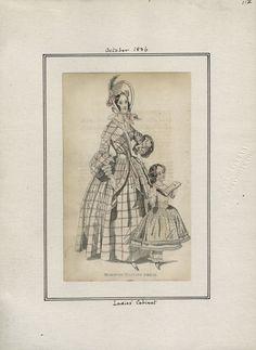 October 1836 morning visiting Dress. Ladies Cabinet.