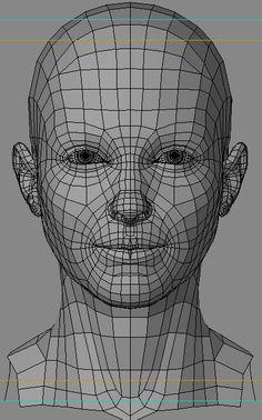 correct face topology cgi - Google Search