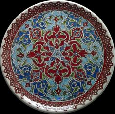 Super Ideas For Painting Techniques Pottery Ceramic Art Ceramic Plates, Ceramic Pottery, Decorative Plates, Painted Plates, Islamic Tiles, Islamic Art, Canvas Painting Quotes, Painted Wood Floors, Acrylic Painting Techniques