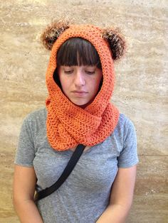 Fun Ewok Beanie with Fuzzy Ears by AChainofEvents on Etsy, $32.00