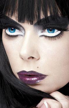 black, white and purple