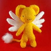 Kero-chan from Cardcaptors Sakura This was a comission. The tail was brushed, though I think it could be better xD. Sewing Basics, Sewing Hacks, Sewing Tutorials, Sewing Tips, Sewing Ideas, Crafty Hobbies, Amigurumi Tutorial, Doll Eyes, Slip Stitch