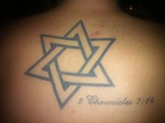 My back tattoo represent the Jews :)