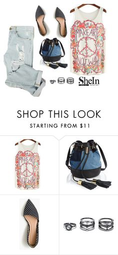 """""""shein"""" by aria-star ❤ liked on Polyvore featuring See by Chloé, J.Crew, Lulu*s, StreetStyle, fashionset and shein"""