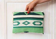 Emerald Green Kilim Tapestry Clutch Bag by PINKJALUZI on Etsy, $28.00