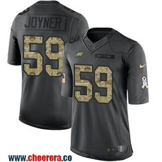 f7e1f342b74 ... Mens Philadelphia Eagles Seth Joyner Black Anthracite 2016 Salute To  Service Stitched NFL Nike Limited Jersey .