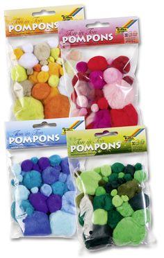 Unsere Pompons haben wir ebenfalls erweitert und viele neue Farbtöne mit in unser Sortiment mit aufgenommen. Entdecken Sie die kreative Vielfalt für maximalen Bastelspaß. Mehr auf www.folia.de