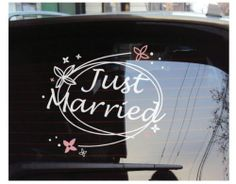 Just Married Wedding Car Decoration Decal Vinyl Sticker Vinyl lettering