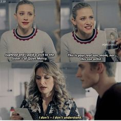 Can't get enough of Riverdale? Keep scrolling for 34 Of The Best Riverdale Quotes. Riverdale Quotes, Riverdale Cw, Riverdale Archie, Riverdale Funny, Riverdale Netflix, Riverdale Aesthetic, Thea Queen, Riverdale Spoilers, Alice Cooper Riverdale
