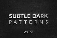 This is the third volume of 4 dark subtle texture patterns background that are ideal to complement your design with flair....