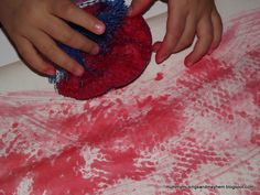 No paint 'painting'! Easy activity for toddlers and no paint required!
