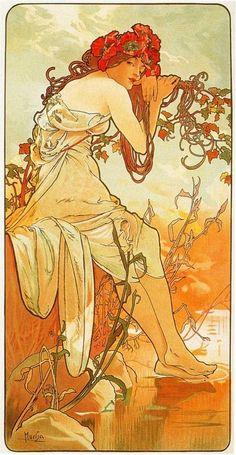 Art Nouveau ~ Alphonse Mucha ~ Summer