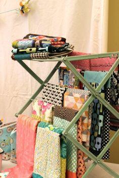 Interesting clothes hanging rack idea.