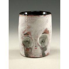Ceramic Skull Cup  Jenny Mendes Ceramic Tumbler by jennymendes