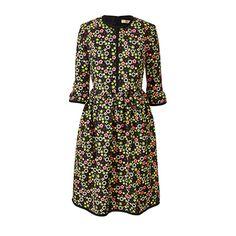 Orla Kiely | USA | Clothing | Dresses | Silk Cotton Sleeve Frill Dress