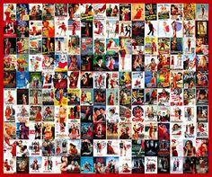 tipos clichês de capas de filmes - Vestido vermelho