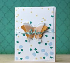 With Love Card by Laura Bassen for Papertrey Ink (February 2015)