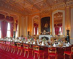 Windsor Castle - the State Dining Room