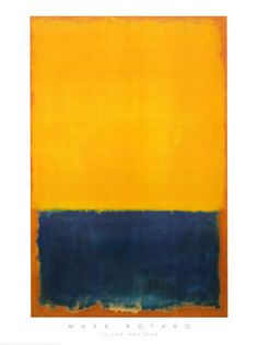 Yellow and Blue Pósters por Mark Rothko en AllPosters.es