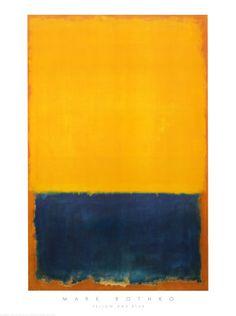 Yellow and Blue, Rothko.