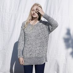 FWSS Sleep Sound is a chunky knit with an oversized fit and rib detailing. Knitted in mixed cotton yarn. Fall Winter Spring Summer, Tunic Tops, Sleep, Elegant, Knitting, Cotton, Shopping, Clothes, Fit