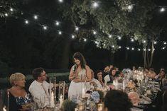 A speech under the stars, wedding in Tuscany #tuscanweddings #weddingsintuscany