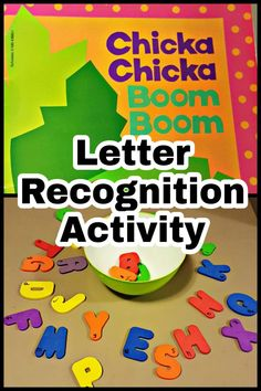 """A simple activity to accompany the popular book """"Chicka Chicka Boom Boom"""". Perf… A simple activity to accompany the popular book """"Chicka Chicka Boom Boom"""". Perf…,Letters A simple activity to accompany the popular book. Letter Recognition Kindergarten, Preschool Letters, Preschool Books, Letter Recognition Games, Alphabet Activities, Book Activities, Preschool Activities, Preschool Readiness, Preschooler Crafts"""