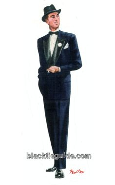 1948 evening wear | 1948 semi-formal evening dress. Mystery DinnerMale  ClothingTwelfth NightBlack ...