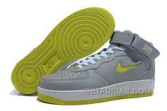 http://www.getadidas.com/nike-air-force-1-mid-grey-volt-shoes-discount.html NIKE AIR FORCE 1 MID GREY/VOLT SHOES DISCOUNT Only $54.94 , Free Shipping!
