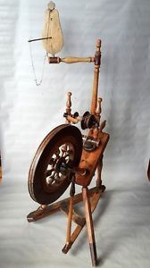 Antique Old Primitive Lithuanian Spinning Wheel Dated 1899 | eBay