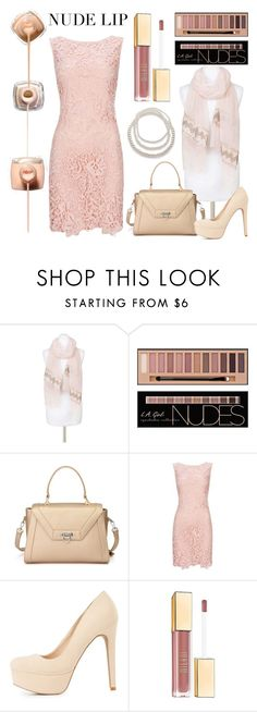 """NudeLip"" by amber-verdin on Polyvore featuring beauty, Pia Rossini, Charlotte Russe, Milani, Red Camel, nudelip, polyvorebeauty, polyvorefashion and polyvoreset"
