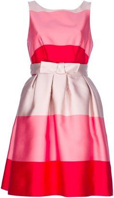 P.a.r.o.s.h. Striped Shift Dress - Lyst