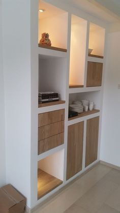 dreamy partition apartment design ideas you must have - page 12 ~ Modern House Design Interior Design Kitchen, Interior Decorating, Muebles Living, Oak Doors, Apartment Design, Built Ins, Home Renovation, Home And Living, Shelving