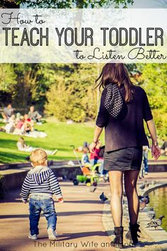 GREAT ideas to help your toddler listen better! Love these ideas!