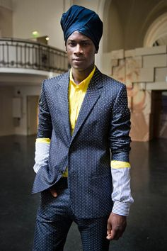 david agbodji at jean paul gaultier men s/s 2013  © ChoHang Siu, all rights reserved