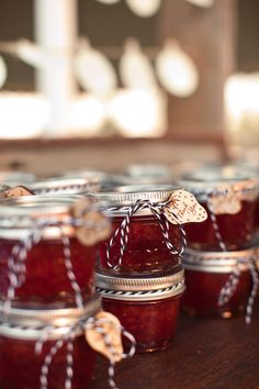 Strawberry jam with wooden tags by www.etsy.com/shop/robertosand Photo by MThreeStudio.com