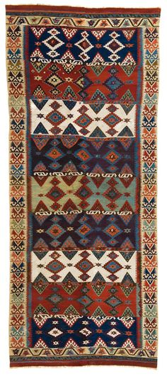 konya kilim, flatweave, turkey, 19th c. | oriental rug