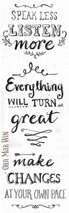 Hand lettering a few inspirational words— Ohn Mar Win Illustration