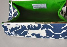 Navy Bridesmaids Clutch Set Design Your Own by JennyGirlDesigns, $47.00