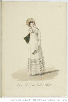 Elève d'une Ecole de chant from Georges-Jacques Gatine, Costumes d'ouvrières parisiennes, 1824, BNF Paris