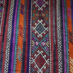 Detailed Shot of Kilim Carpet on The Wanderly Bohemian Rug, Turkey, Carpet, Textiles, Rugs, Detail, Handmade, Home Decor, Farmhouse Rugs