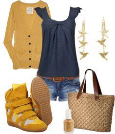 9ea58dfad503 Isabel Marant Suede Wedge Sneakers Bekett Grey Yellow