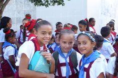School girls in Havana, Cuba.
