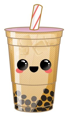 Vegan Boba Tea is easy to make at home. You only need a few ingredients to enjoy dairy-free bubble tea anytime you want in all your favorite flavors. Kawaii Girl Drawings, Cute Little Drawings, Cute Food Drawings, Pen Drawings, Tea Wallpaper, Kawaii Wallpaper, Wallpaper Iphone Cute, Bubble Tea, Bubble Drink