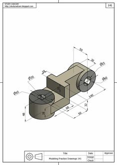 Ölçülendirilmiş Perspektif Resim Örnekleri | Makine Eğitimi Autocad Isometric Drawing, Isometric Drawing Exercises, Mechanical Engineering Design, Mechanical Design, Cad 3d, Solidworks Tutorial, Revit, Interesting Drawings, Drawing Machine