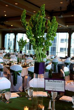 Bells of Ireland flower - wedding centerpiece