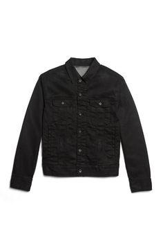 Worn Jean Jacket in Black